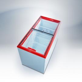 Морозильный ларь Ангара-600 СТ. (стекло) 6 корзины
