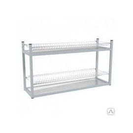 Стеллаж для тарелок и стаканов -2 полочный 895/270/490 мм